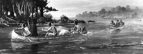missionary in canoe
