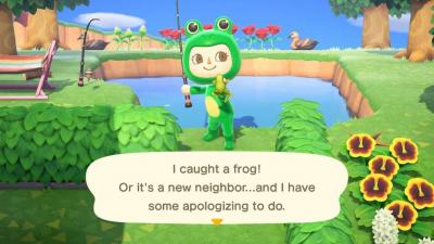 video game character dressed as a frog