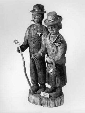 man and woman statue